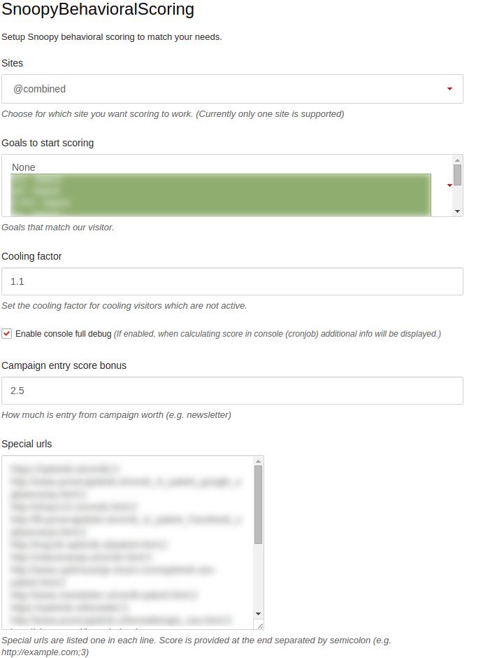 snoopy behavioral scoring   matomo plugins marketplace